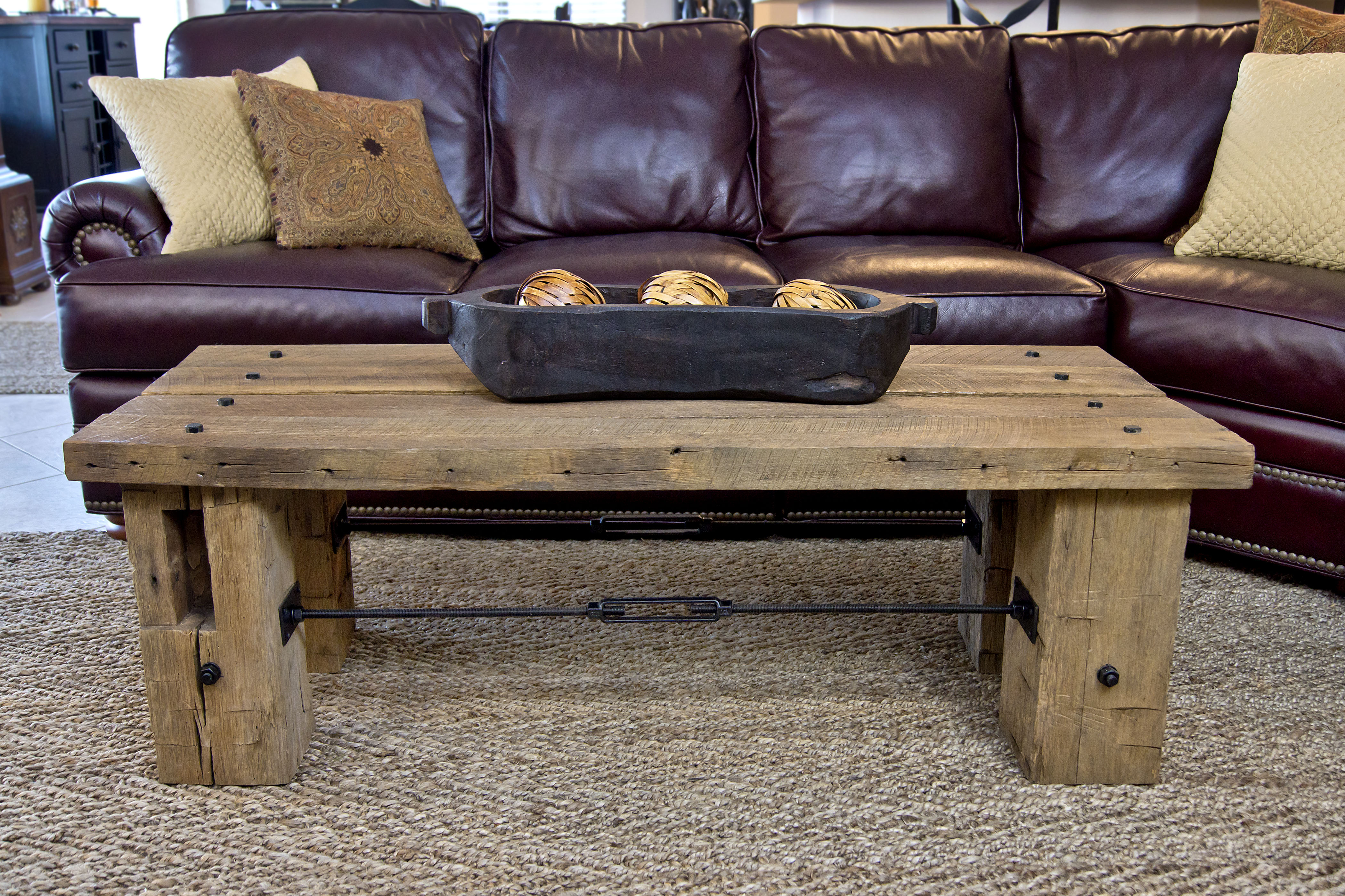 Turnbuckle coffee table yankeeinteriors turnbuckle coffee table geotapseo Image collections